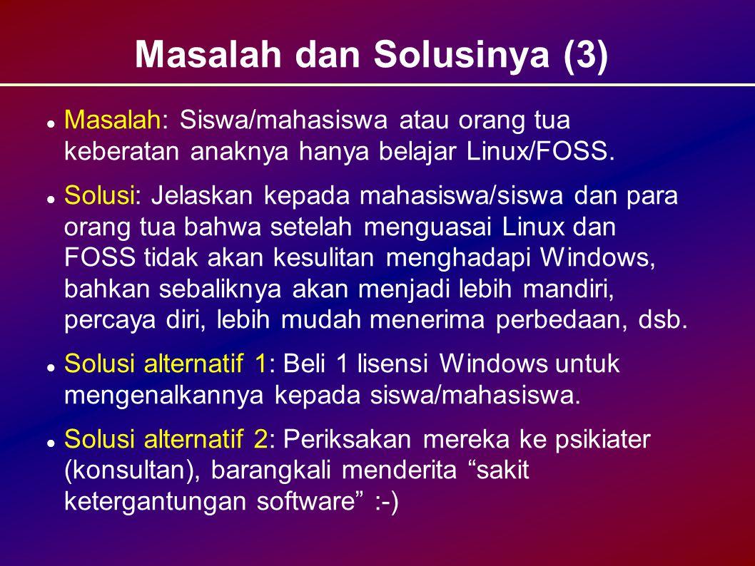 Masalah dan Solusinya (3)