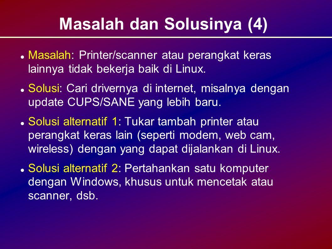 Masalah dan Solusinya (4)