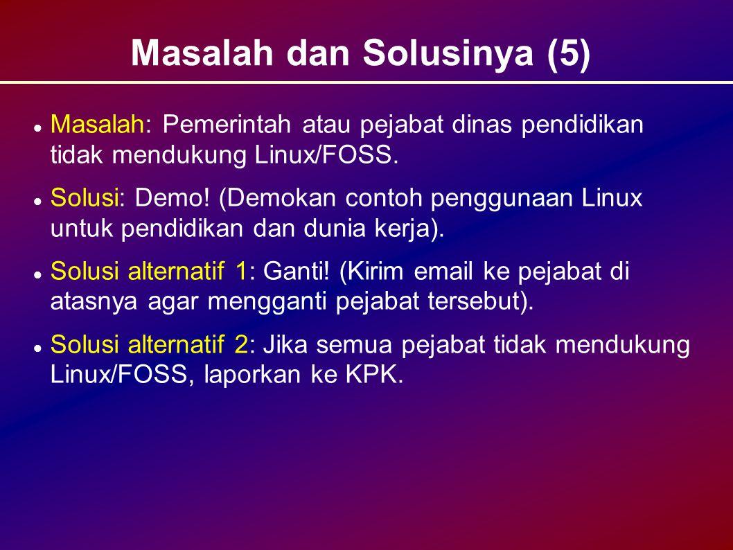 Masalah dan Solusinya (5)
