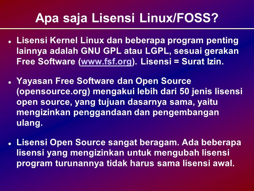 Apa saja Lisensi Linux/FOSS