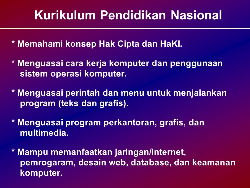 Kurikulum Pendidikan Nasional