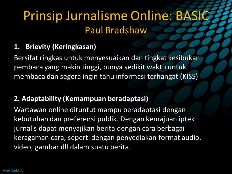 Prinsip Jurnalisme Online: BASIC Paul Bradshaw