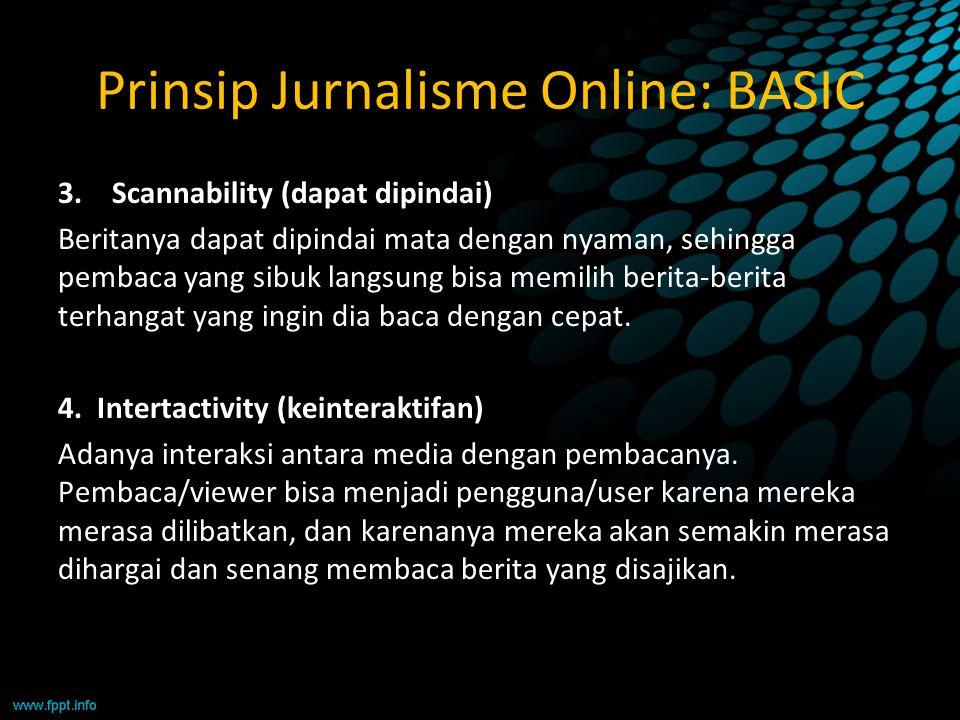 Prinsip Jurnalisme Online: BASIC