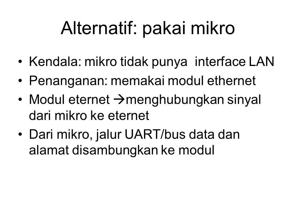 Alternatif: pakai mikro