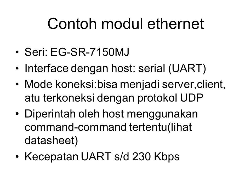Contoh modul ethernet Seri: EG-SR-7150MJ