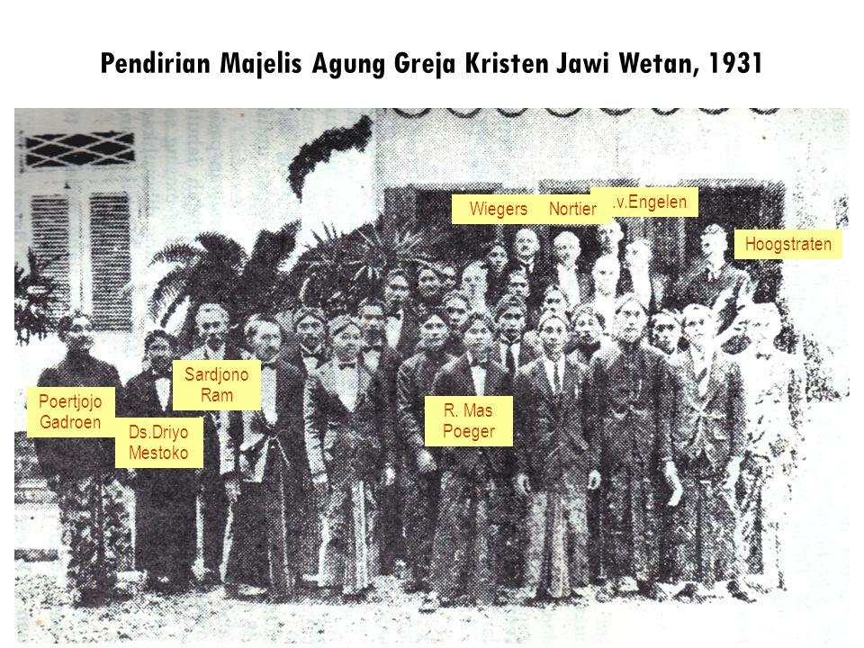 Pendirian Majelis Agung Greja Kristen Jawi Wetan, 1931