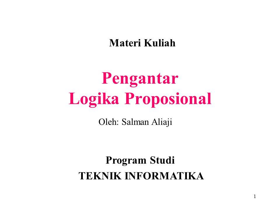 Pengantar Logika Proposional