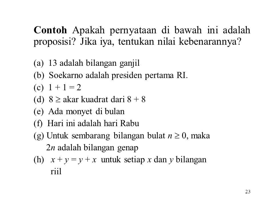 (a) 13 adalah bilangan ganjil