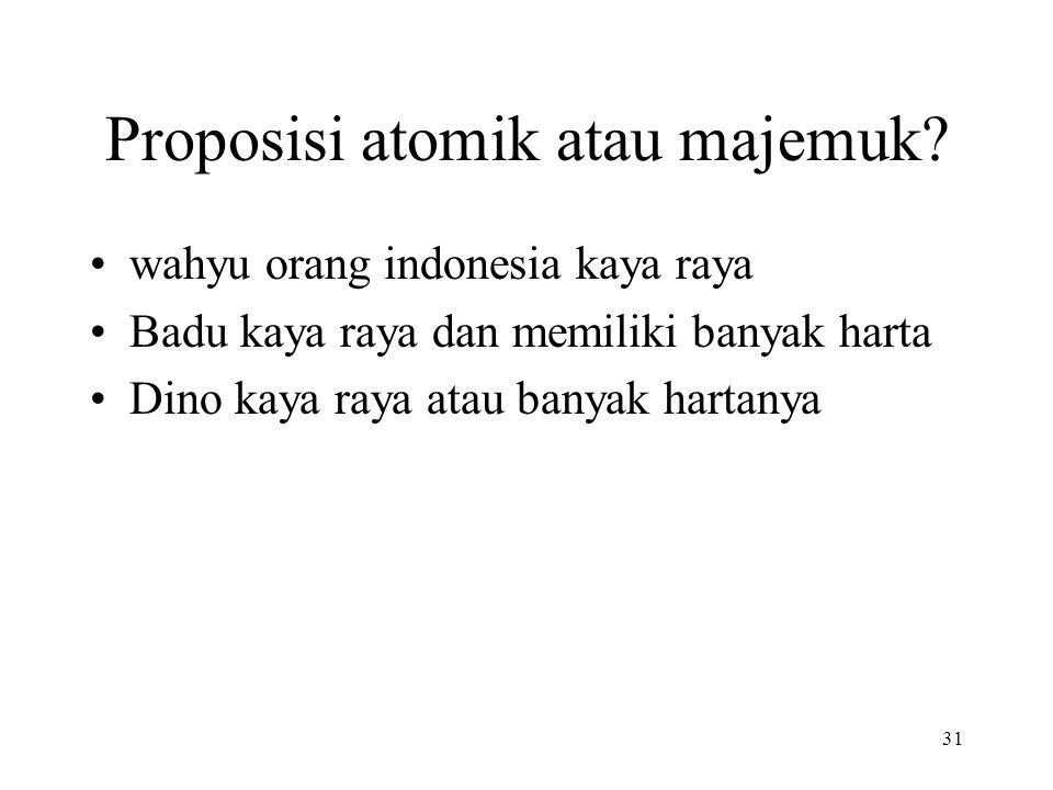 Proposisi atomik atau majemuk