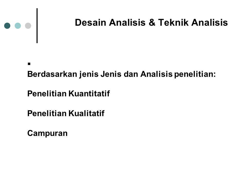 Desain Analisis & Teknik Analisis