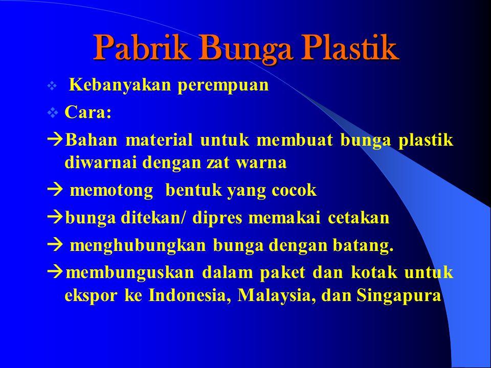 Pabrik Bunga Plastik Cara: