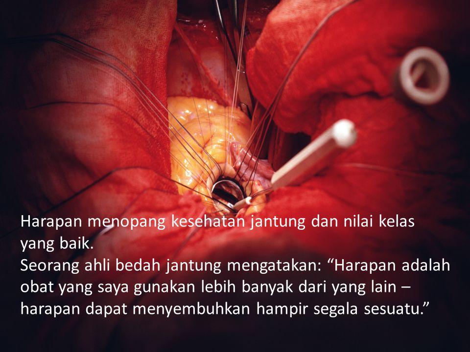 Harapan menopang kesehatan jantung dan nilai kelas yang baik.