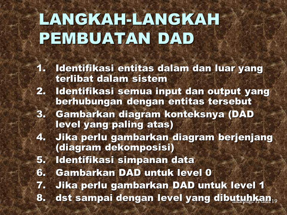 LANGKAH-LANGKAH PEMBUATAN DAD