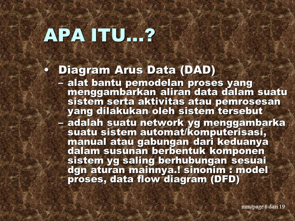 APA ITU... Diagram Arus Data (DAD)