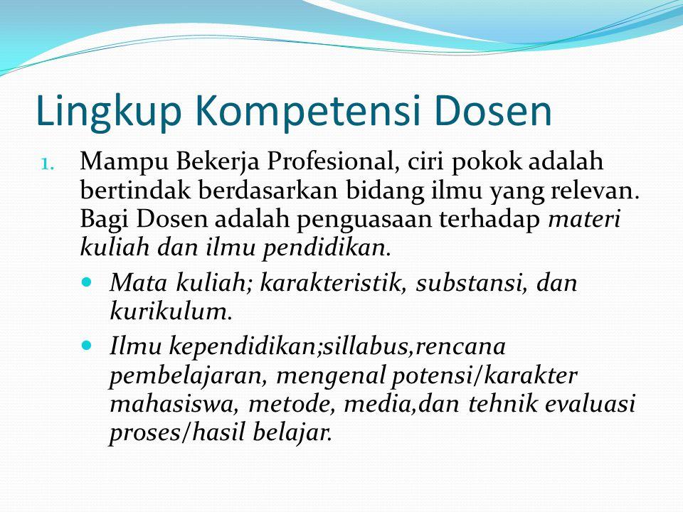 Lingkup Kompetensi Dosen