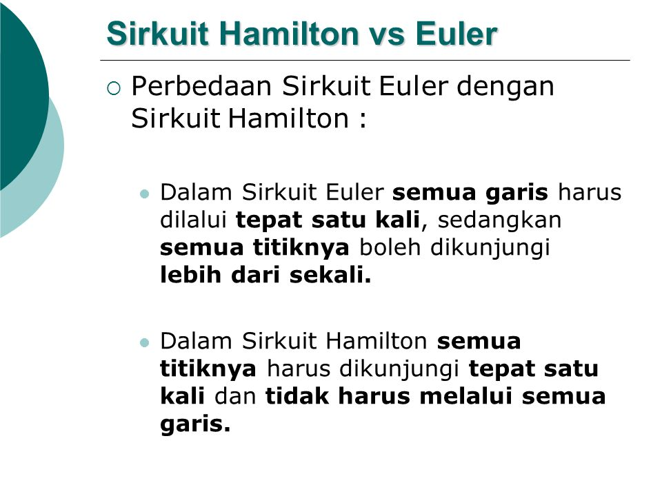 Sirkuit Hamilton vs Euler