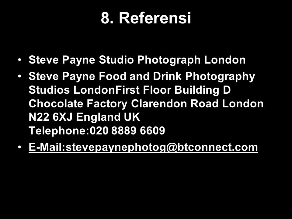 8. Referensi Steve Payne Studio Photograph London