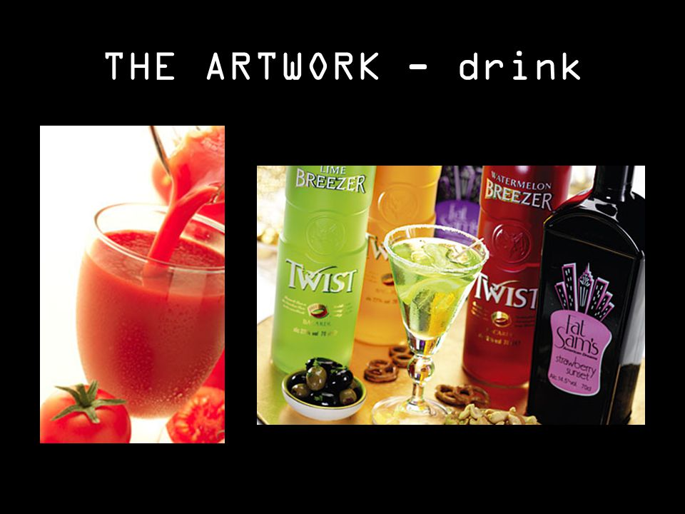 THE ARTWORK - drink