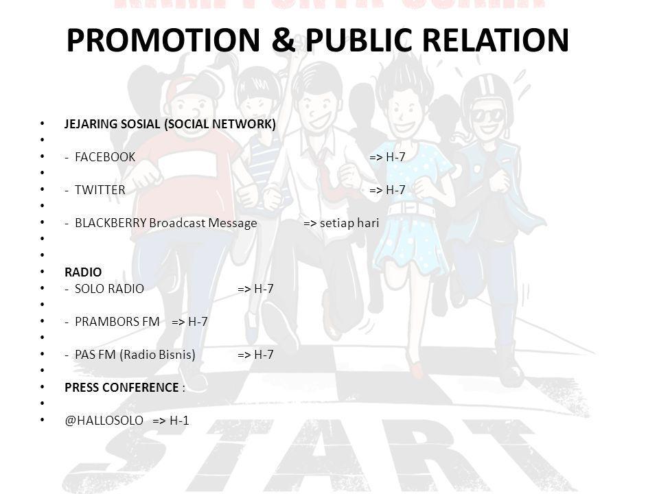 PROMOTION & PUBLIC RELATION