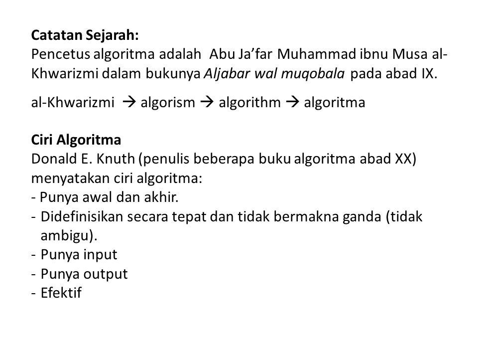 al-Khwarizmi  algorism  algorithm  algoritma