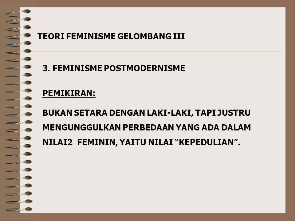 TEORI FEMINISME GELOMBANG III