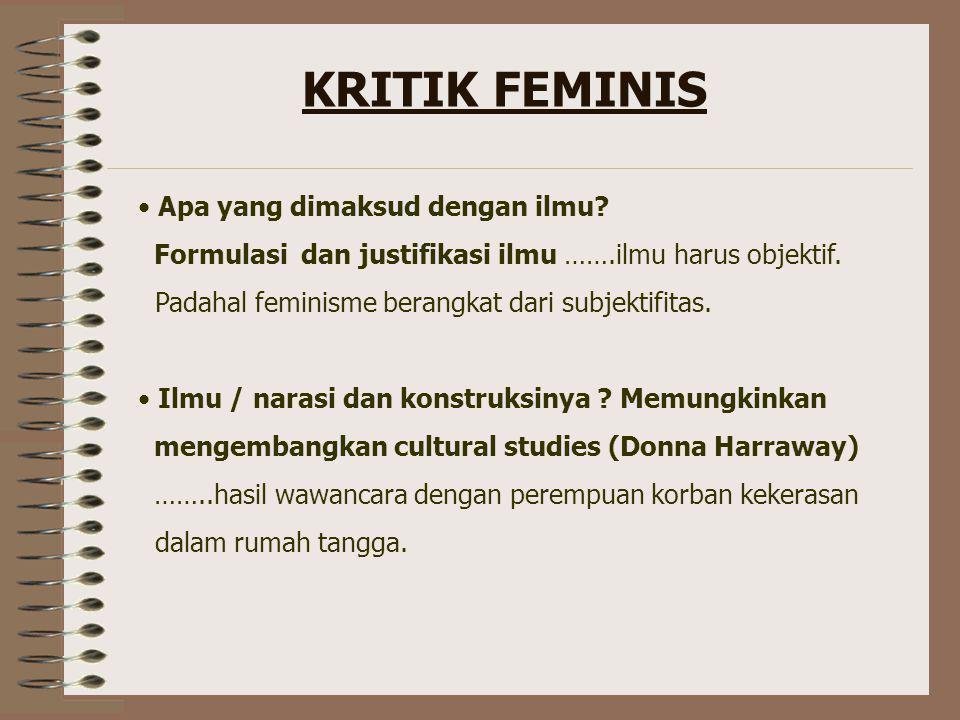 KRITIK FEMINIS Apa yang dimaksud dengan ilmu