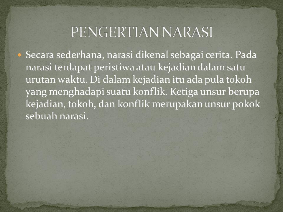 PENGERTIAN NARASI