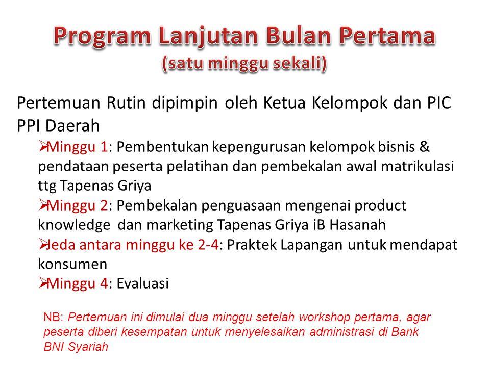 Program Lanjutan Bulan Pertama