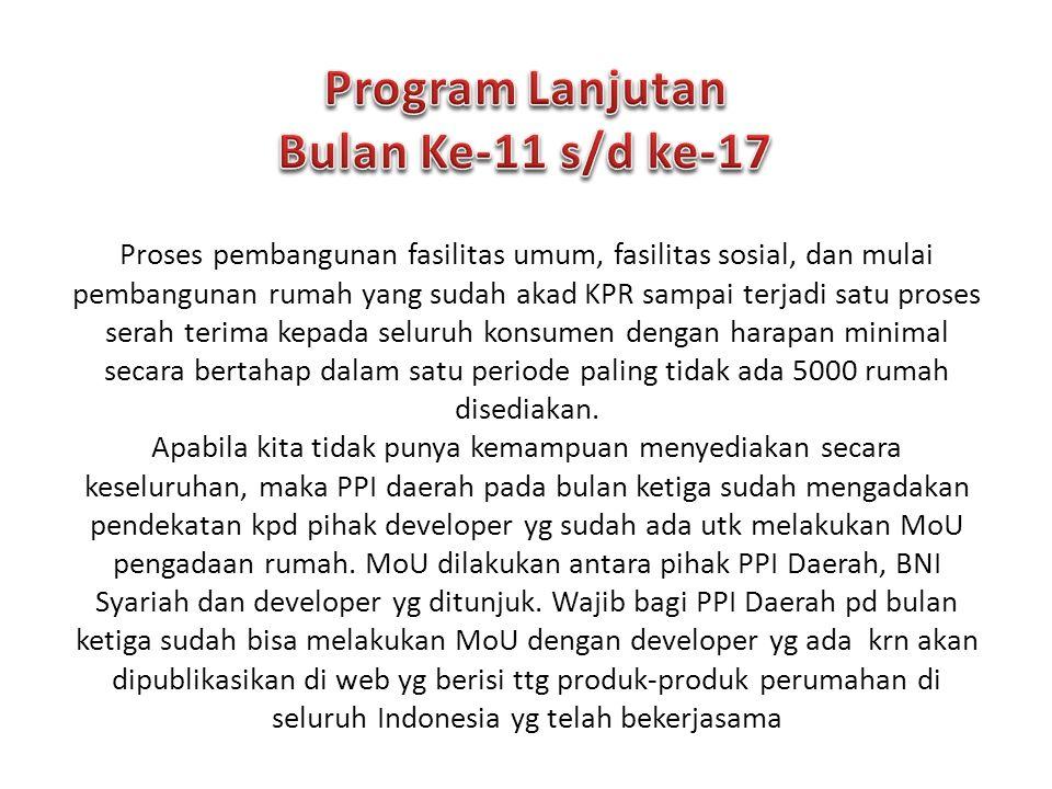 Program Lanjutan Bulan Ke-11 s/d ke-17