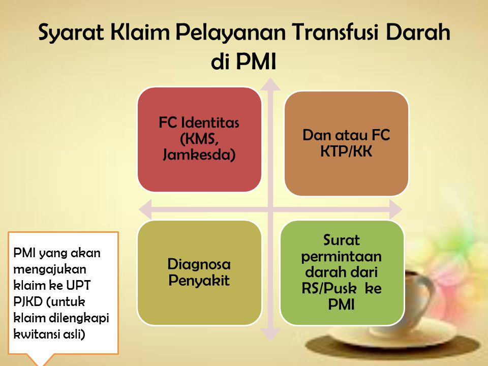 Syarat Klaim Pelayanan Transfusi Darah di PMI