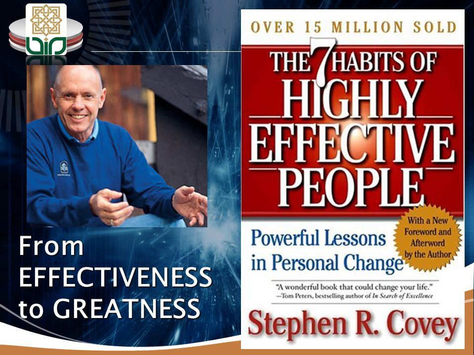 From EFFECTIVENESS to GREATNESS