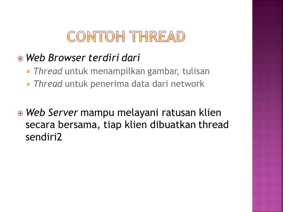 CONtoh THREad Web Browser terdiri dari