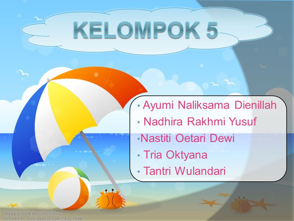 Kelompok 5 Ayumi Naliksama Dienillah Nadhira Rakhmi Yusuf