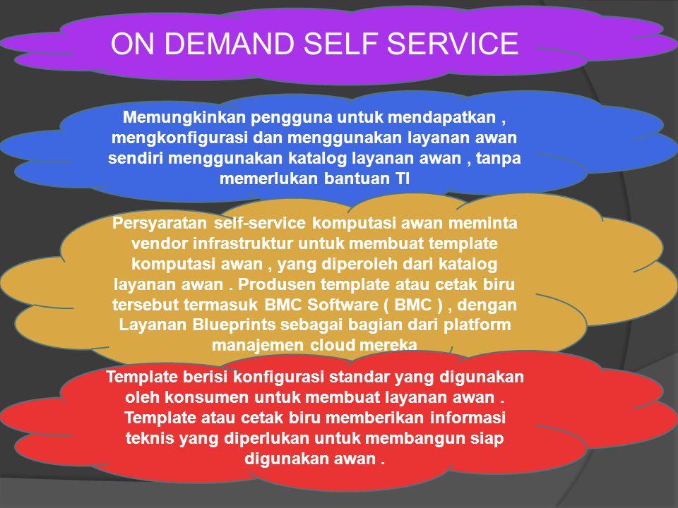 ON DEMAND SELF SERVICE