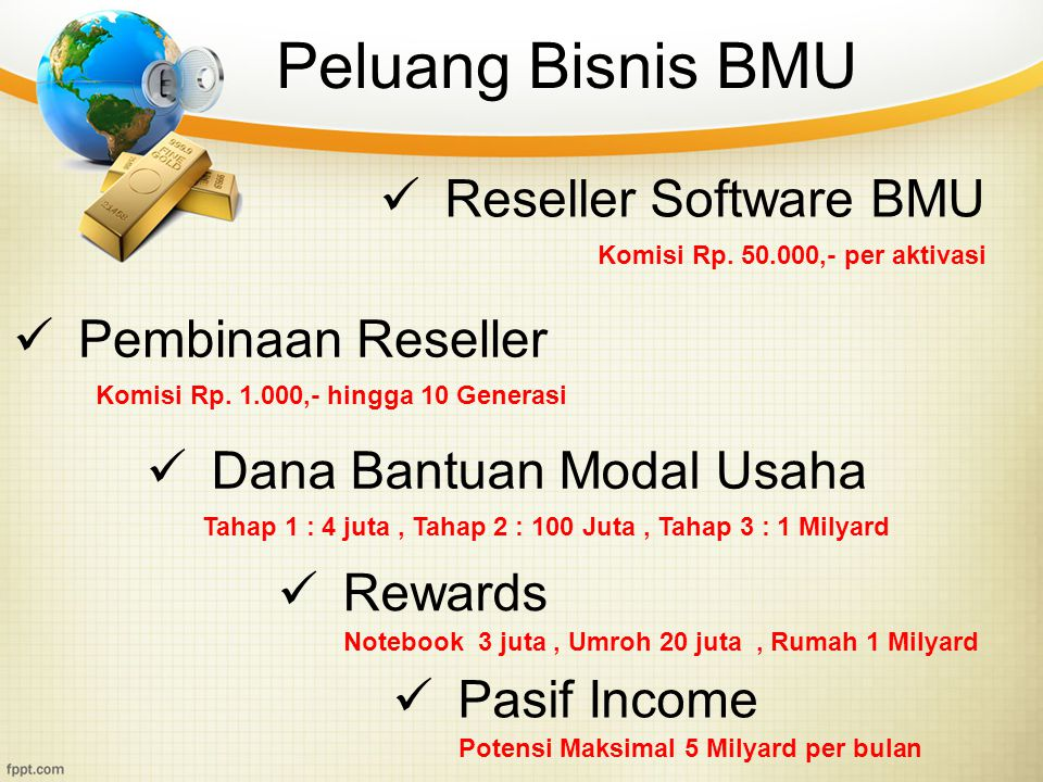 Peluang Bisnis BMU Reseller Software BMU Pembinaan Reseller