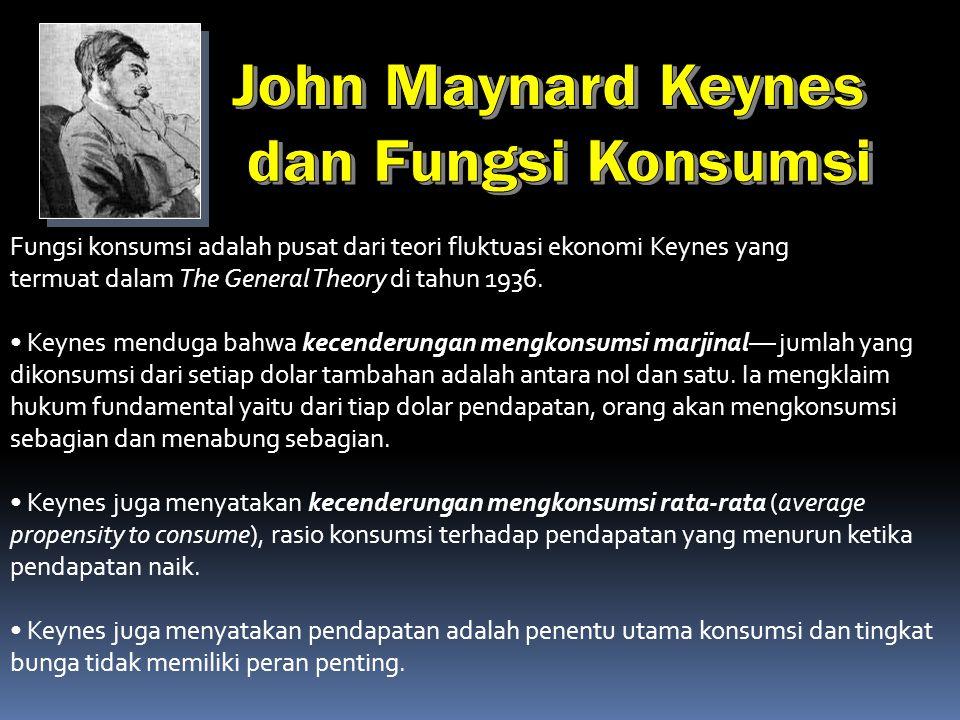 John Maynard Keynes dan Fungsi Konsumsi