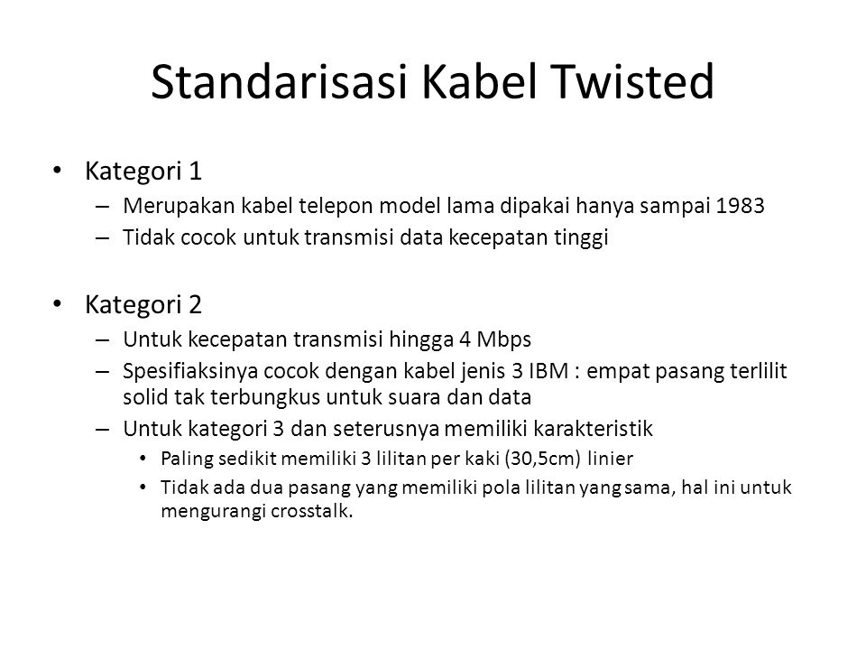 Standarisasi Kabel Twisted