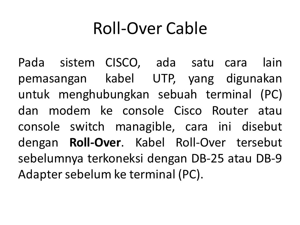 Roll-Over Cable