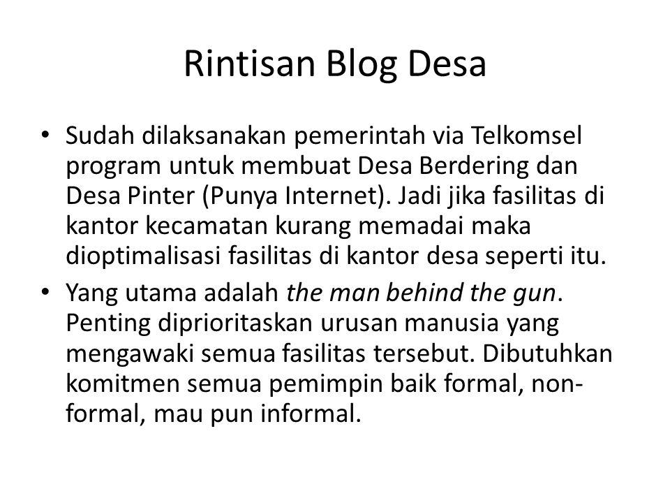 Rintisan Blog Desa