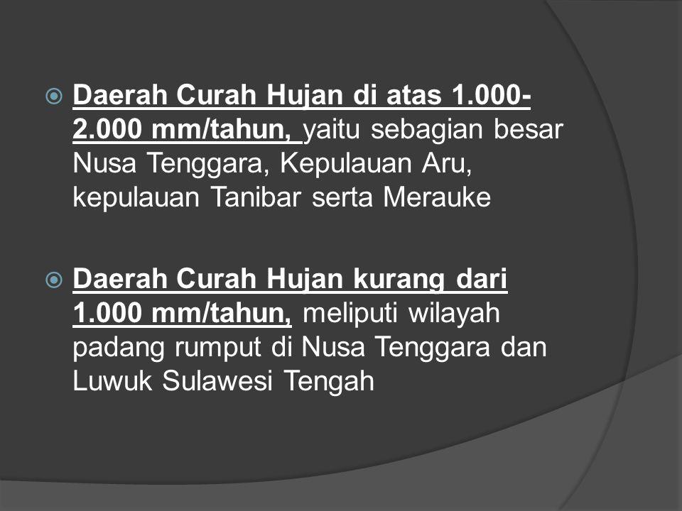Daerah Curah Hujan di atas 1. 000-2