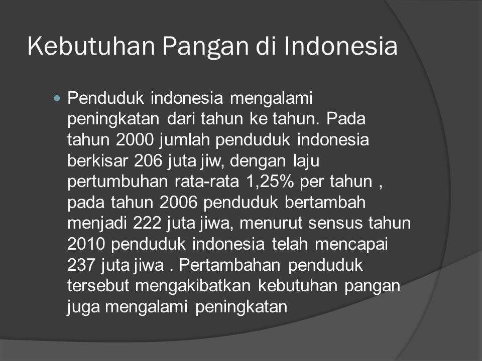 Kebutuhan Pangan di Indonesia