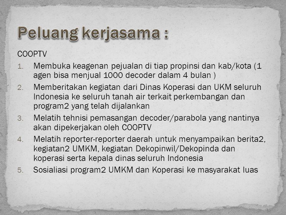 Peluang kerjasama : COOPTV