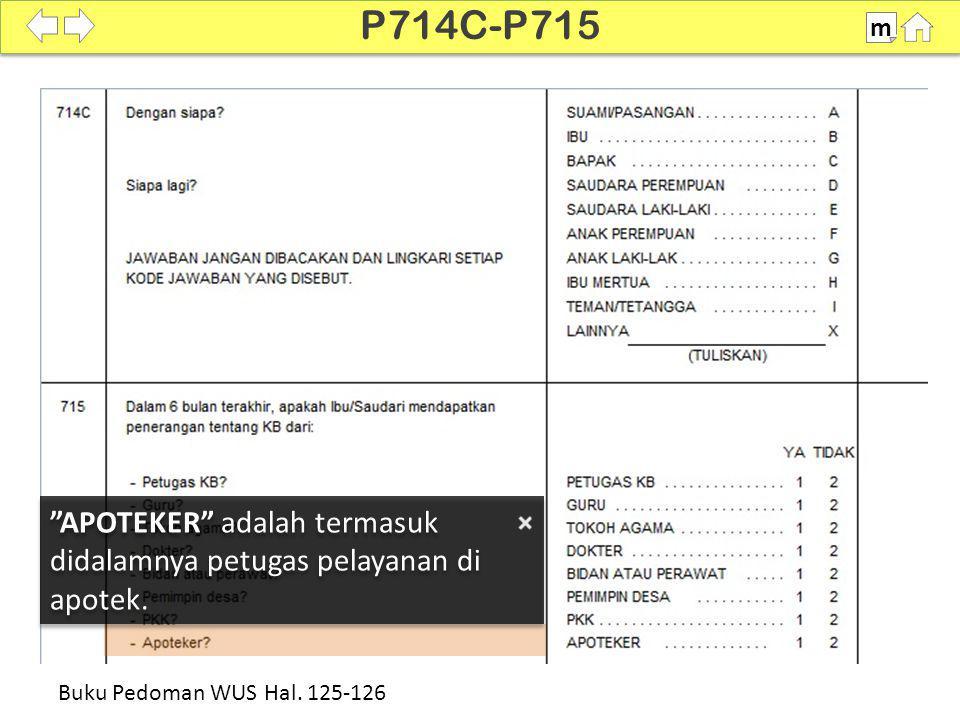 P714C-P715 m. SDKI 2012. 100% APOTEKER adalah termasuk didalamnya petugas pelayanan di apotek.