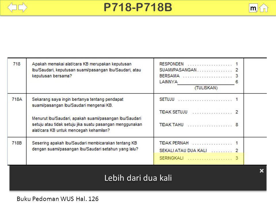 P718-P718B m 100% Lebih dari dua kali Buku Pedoman WUS Hal. 126