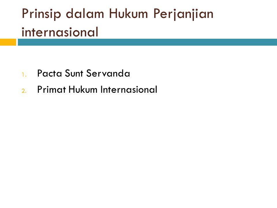 Prinsip dalam Hukum Perjanjian internasional