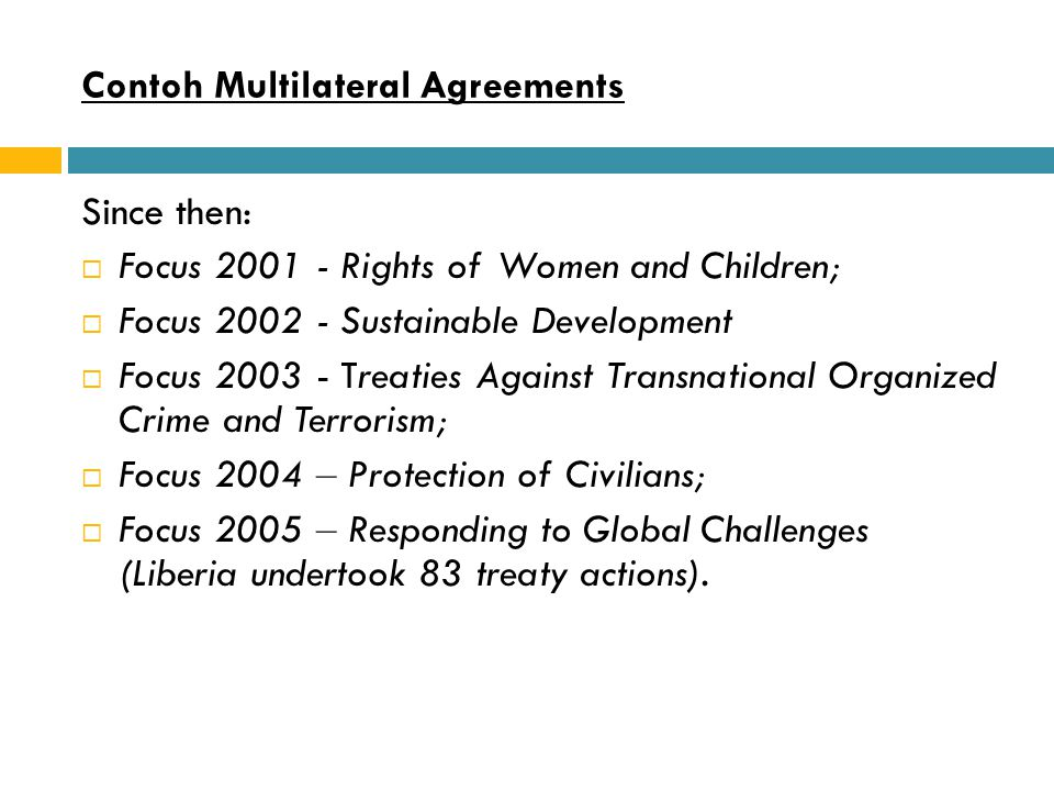 Contoh Multilateral Agreements