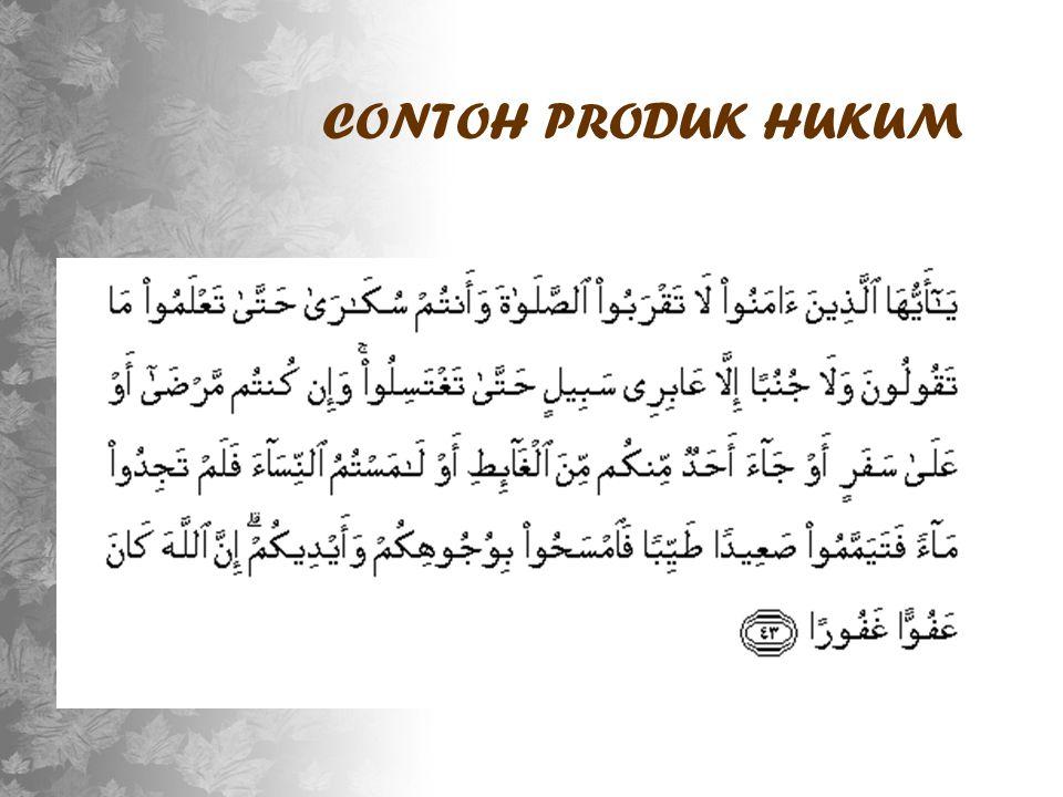 CONTOH PRODUK HUKUM