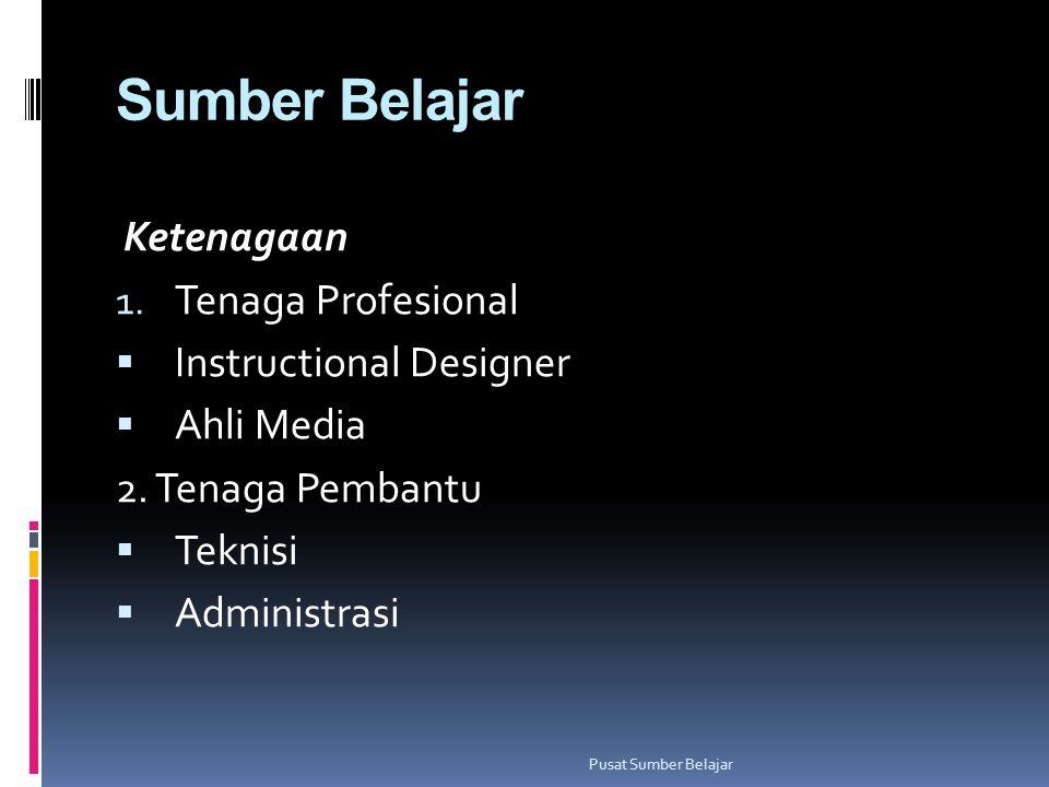 Sumber Belajar Ketenagaan Tenaga Profesional Instructional Designer