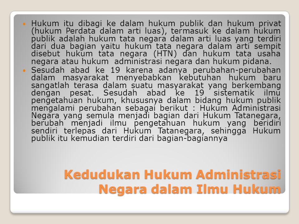 Kedudukan Hukum Administrasi Negara dalam Ilmu Hukum