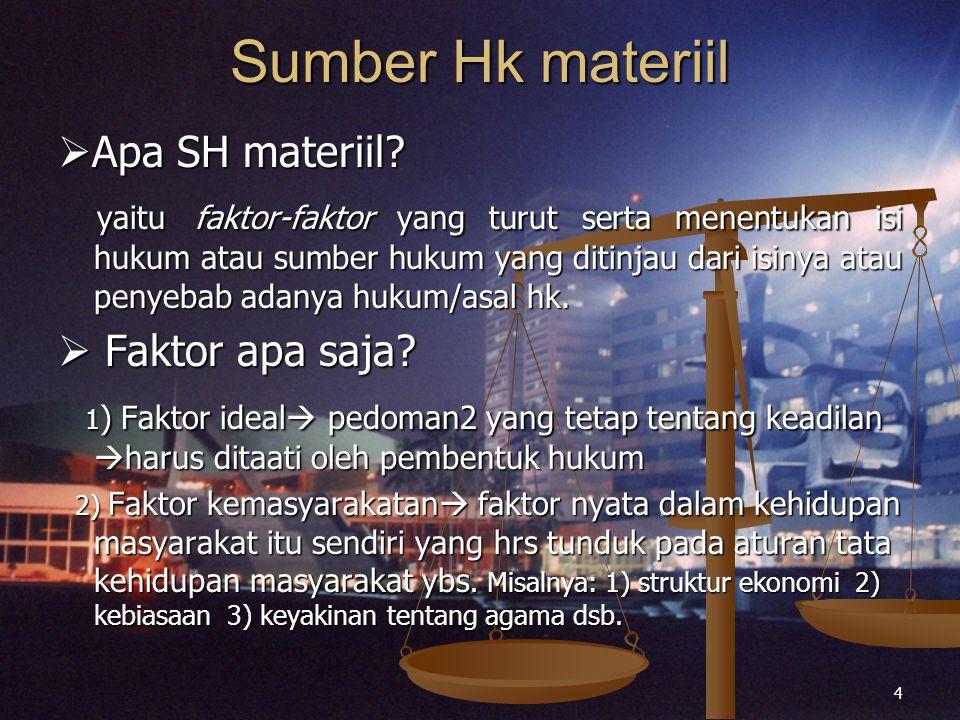 Sumber Hk materiil Apa SH materiil